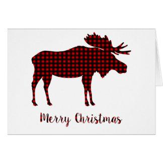 Tarjeta Tipografía de las Felices Navidad del reno de la