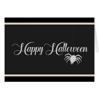 Tarjeta Tipografía del feliz Halloween