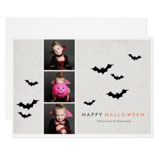 Tarjeta Tira de la foto de Halloween - luz