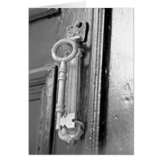 Tarjeta Tirador de puerta, llave de la revista del pie