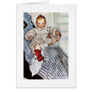 Tarjeta Tirones de Esbjorn del bebé en su pie