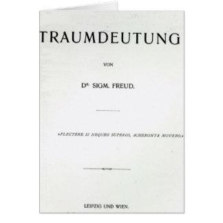 Tarjeta Titlepage a morir Traumdeutung de Sigmund Freud