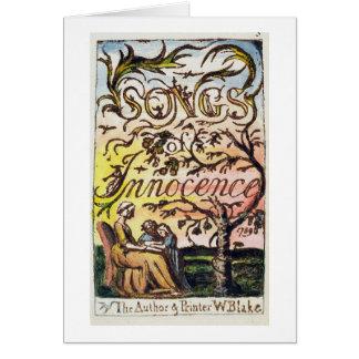 Tarjeta Titlepage de 'canciones de la inocencia y de