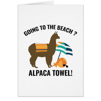 Tarjeta Toalla de la alpaca