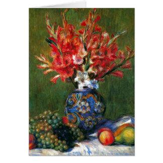 Tarjeta Todavía de Renoir pintura del arte de las flores y