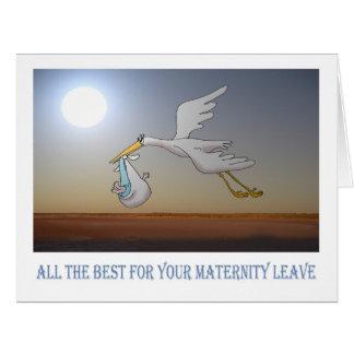 Tarjeta todo el mejor para el permiso por maternidad, la
