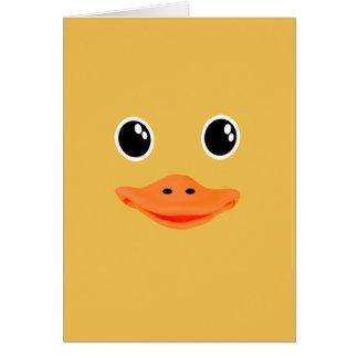 Tarjeta Todo es pato Ducky del bebé