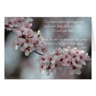 Tarjeta Tolerancia floral de la flor de cerezo