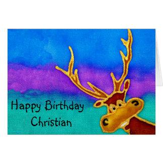 Tarjeta tonta cristiana del macho del feliz