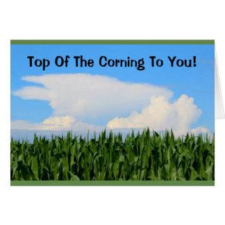 Tarjeta Top del Corning a usted el día de St Patrick