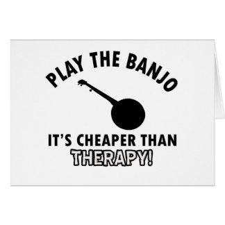 Tarjeta Toque el banjo