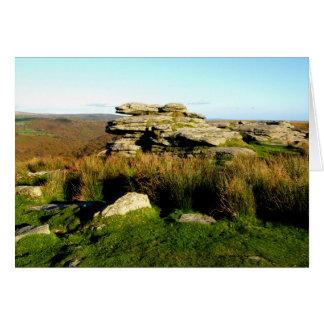Tarjeta Tor de Dartmoor en otoño