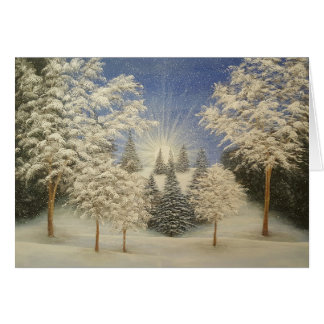 Tarjeta Tormenta temprana de la nieve