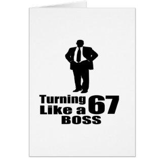 Tarjeta Torneado de 67 como Boss