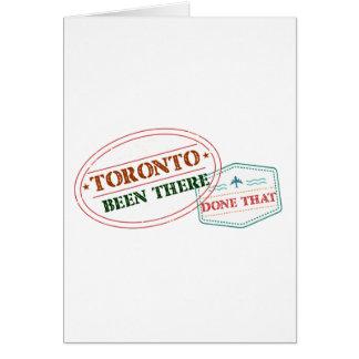 Tarjeta Toronto allí hecho eso