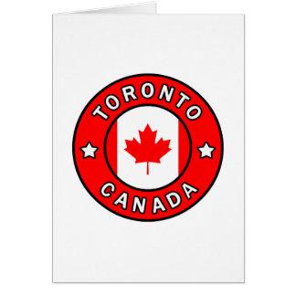 Tarjeta Toronto Canadá
