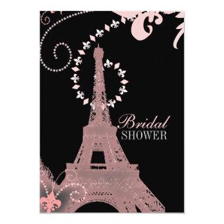 Tarjeta torre Eiffel francesa elegante lamentable de París