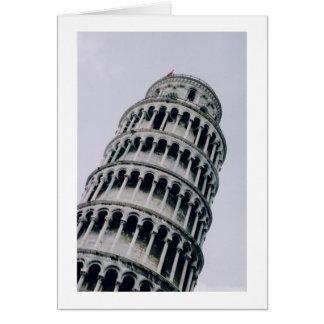 Tarjeta Torre inclinada de Pisa, Italia