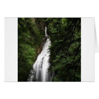 Tarjeta Torrente que fluye blanco de la cascada