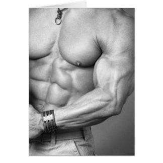 Tarjeta Torso Notecard del Bodybuilder