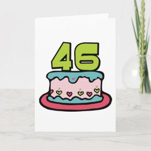 Tarjeta Torta de cumpleaños de 46 años