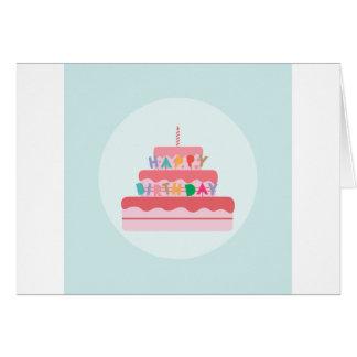 Tarjeta Torta del feliz cumpleaños