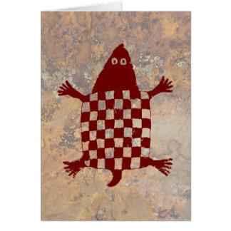 Tarjeta Tortuga, diseño de la cerámica de Mimbres