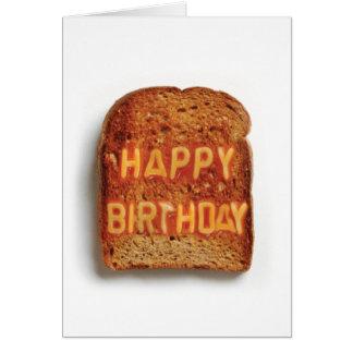 Tarjeta Tostada - feliz cumpleaños