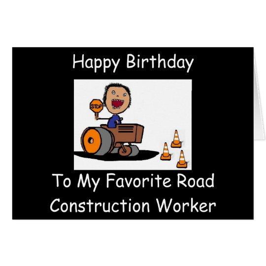 Tarjeta Trabajador de construcción de carreteras