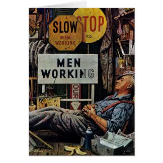 Tarjeta Trabajo de los hombres