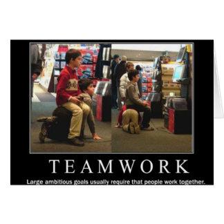 Tarjeta Trabajo del equipo