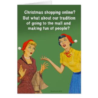 Tarjeta Tradición que hace compras del navidad