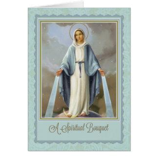 Tarjeta tradicional del Virgen María del ramo