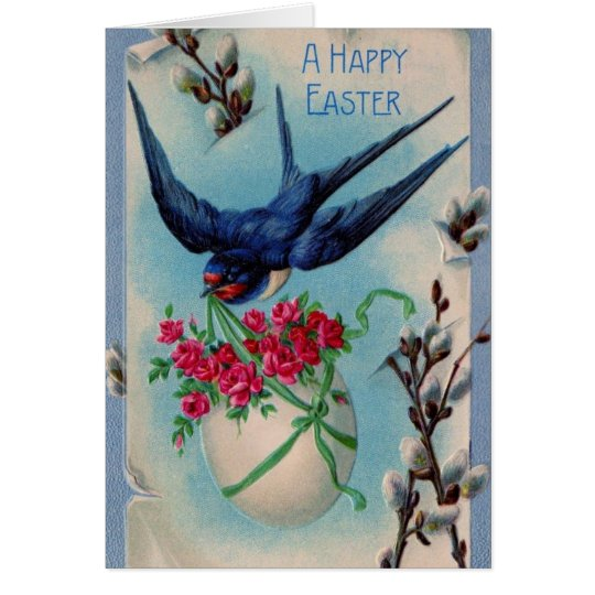 Tarjeta Trago de Pascua del vintage