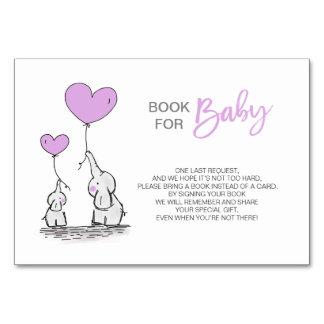 Tarjeta Traiga un libro - fiesta de bienvenida al bebé de