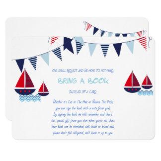 Tarjeta Traiga un libro, veleros, náuticos, personalizado