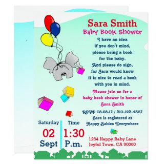 Tarjeta Traiga una fiesta de bienvenida al bebé del libro