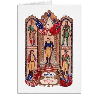 Tarjeta Traje militar de la guerra revolucionaria 1855