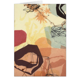 Tarjeta transmisiva del arte abstracto de las