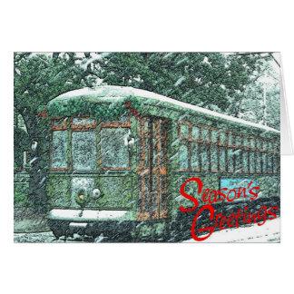 Tarjeta Tranvía en nieve