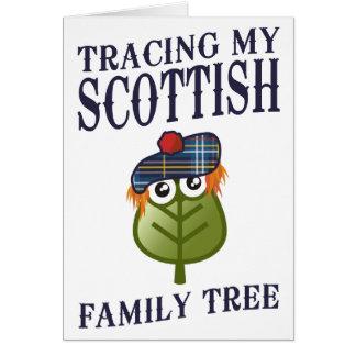 Tarjeta Trazado de mi árbol de familia escocés