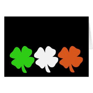 Tarjeta Tréboles irlandeses de la bandera