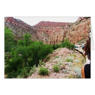 Tarjeta Tren de Arizona - sudoeste al aire libre - espacio