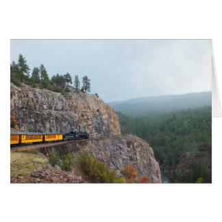 Tarjeta Tren del vapor a Silverton