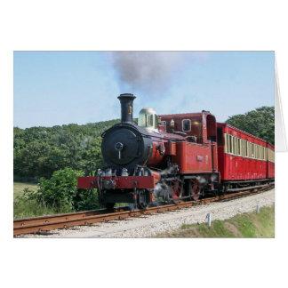 Tarjeta Tren del vapor en la isla de Castletown del hombre