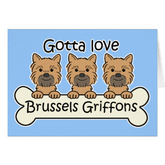 Tarjeta Tres Bruselas Griffons