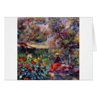 Tarjeta Tres obras maestras asombrosas del arte de Renoir