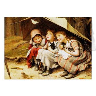 Tarjeta: Tres pequeños gatitos