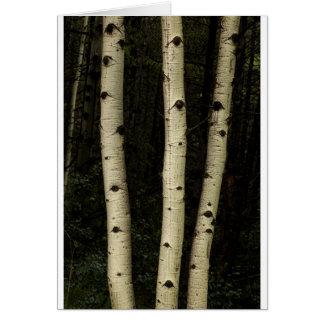 Tarjeta Tres pilares del bosque