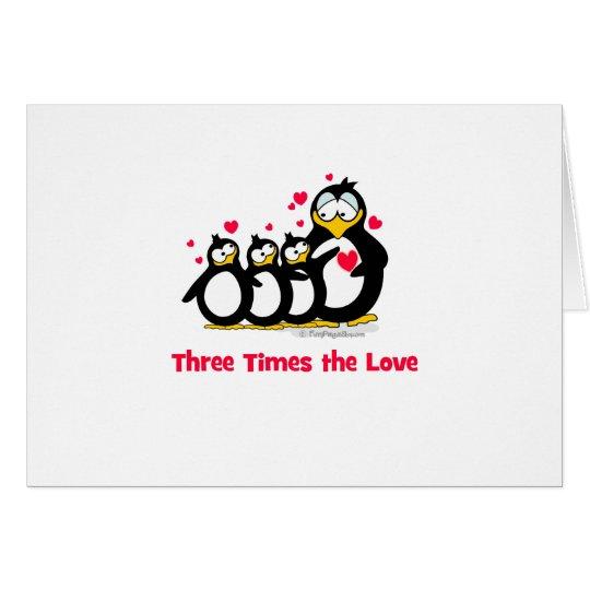 Tarjeta tres veces el amor